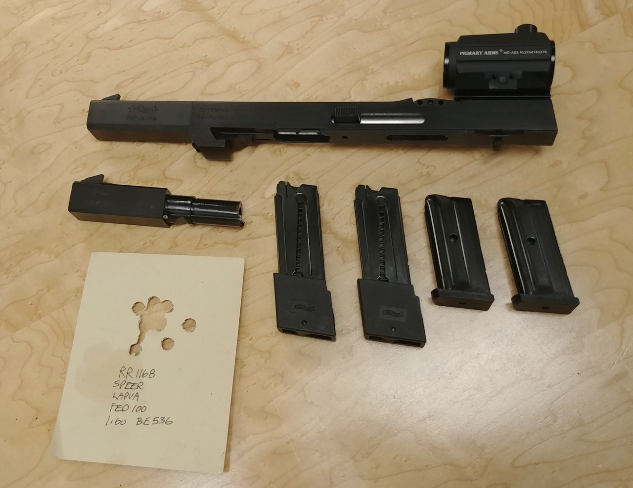 Walther GSP 22/32 Package w/ David Wilson Barrel, 2 Stage Trigger, Micro Dots 03022012