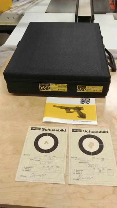 Walther GSP 22/32 Package w/ David Wilson Barrel, 2 Stage Trigger, Micro Dots 03022014